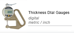 Thickness dial gauges digital
